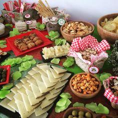 Ideas para decorar la #mesa en la #fiesta de #caperucita