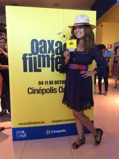 Director Patricia Chica just before a screening of Luke Wilson's short film screening during the 5th Oaxaca International Film Festival (2014)