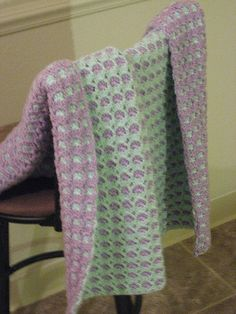 Ravelry: 2 Sided Baby Afghan pattern by Janet David