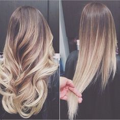 Love this long ombre hair... PERFECT. Im working on mine again... going up…