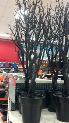 Halloween potted glitter tree