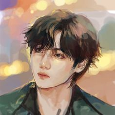 Taehyung Fanart, Bts Taehyung, Jhope, Digital Portrait, Portrait Art, Digital Art, Boy Scouts, Kpop Drawings, The Scene
