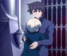 Ren & Kazuma hugging