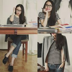 Work Space (by Aliya Akhmedeeva) http://lookbook.nu/look/4542005-Work-Space