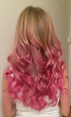 . Pink Hair Tips, Hair Dye Tips, Pink Hair Dye, Hot Pink Hair, Dip Dye Hair, Hair Color Pink, Hair Dye Colors, Cool Hair Color, Neon Hair