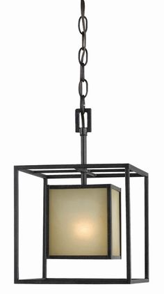 Hilden Collection 1-Light 120 in. Hanging Aged Bronze Pendant