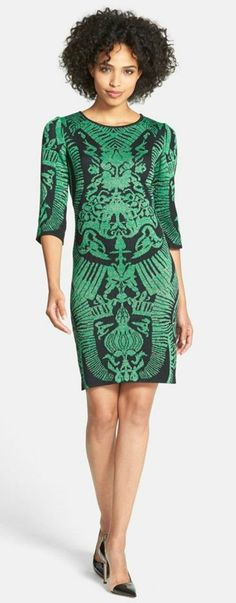 Jacquard Knit Sheath Dress | Nordstrom