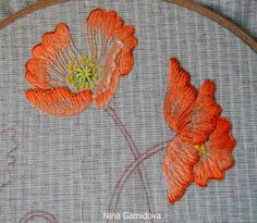 Carousel needlework: Embroidered on Japanese design.