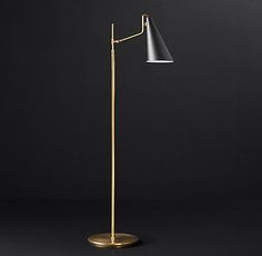 RH Modern's Clemente Task Floor Lamp:With pared-down lines and a distinctive… Modern Floor Lamps, Cool Floor Lamps, Living Room Goals, Living Room Decor, Tv Decor, Unique Lamps, Lighting Solutions, Desk Lamp, Modern Decor