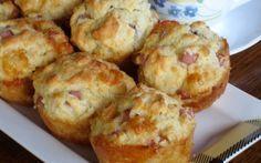 Smoked Ham and Cheese Muffins Breakfast Recipes, Snack Recipes, Cooking Recipes, Muffin Recipes, Breakfast Ideas, Food Network Recipes, Food Processor Recipes, Cyprus Food, The Kitchen Food Network
