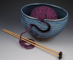 My second - Yarn Bowl Knitting Bowl  In Stock and Ready to Ship by nealpottery, $36.00