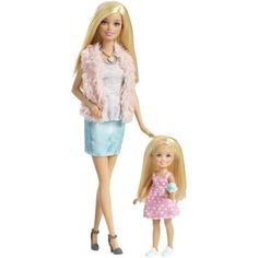 Barbie Sisters Barbie and Chelsea Dolls Gift Set #Mattel #DollswithClothingAccessories