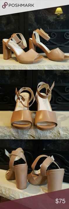 😎Kenneth Cole Platform Sandals😎 Brand New & Never worn. Platform sandals, with criss cross ankle strap. Beautiful. Fashion must for this season!👠 Kenneth Cole  Shoes
