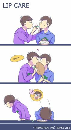 I shipped the both of you! Kara Kara, Anime Vs Cartoon, Osomatsu San Doujinshi, Ichimatsu, 19 Days, Twin Brothers, Boyxboy, Fujoshi, South Park