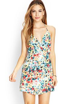 Watercolor Floral Surplice Dress | FOREVER21 #SummerForever