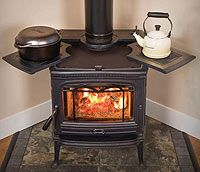 stand alone wood burning fireplace - Google Search