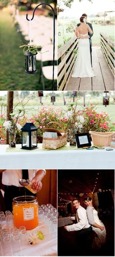 obsessed with these lanterns, baskets and branches