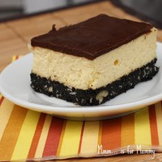 Nanaimo Bar Cheesecake - I need the recipe for this.ughh, look sooo good! Warren would be in Heaven, two of his favourites combined in one! Cheesecake Desserts, No Bake Desserts, Yummy Treats, Sweet Treats, Nanaimo Bars, Cookie Bars, Bar Cookies, Christmas Baking, Christmas Recipes