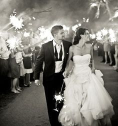 Who says the bride shouldn't get a sparkler, too?