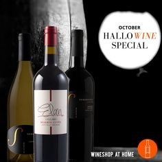 This spooktacular treat features three wines to celebrate #Halloween all month long and stock your cellar for the fall & #holiday season! Somersville Cellars 2014 Sierra Foothills #Chardonnay with butterscotchand vanilla. Elan Cellars 2013 Napa Valley Reserve #Cuvée with lots of spice and caramel. Somersville Cellars 2014 California Red #Meritage with black cherry, raspberry and smooth, creamy chocolate. Ask me for more info! http://wsah.org/37gk