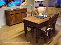 Esszimmermöbel aus massivem Holz Kiefer - Farbe natur antik hell rustikal…