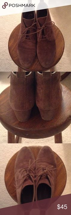 Suede ankle boots In excellent condition. Like new. Tie, suede leather. Franco Sarto Shoes Ankle Boots & Booties