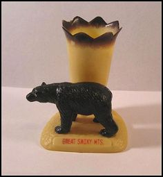 Black Bear Souvenir Toothpick Holder - Great Smoky Mountains