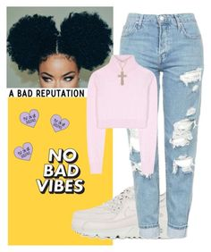 """""""+keep yo head high an yo middle fingers higher+"""" by luh-foreign ❤ liked on Polyvore featuring NIKE, Balmain and Lord & Taylor"""