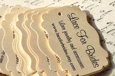 Product Tags Labels for Hand made product tags by alittlemorerosie, $18.00