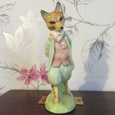 Vintage Royal Albert Foxy Whiskered Gentleman Figurine 1989 Beatrix Potter by thevintagemart on Etsy