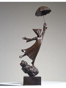 LA SINFONÍA DE LA LLUVIA, bronze sculpture by Sergio Bustamante, Mexico.