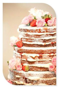 how pretty would this be for a outdoor summer wedding cake... or a bridal shower? mmmm! Pancakes? Mmmmmmm