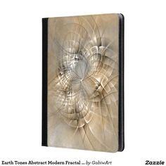 Earth Tones Abstract Modern Fractal Art Texture iPad Case