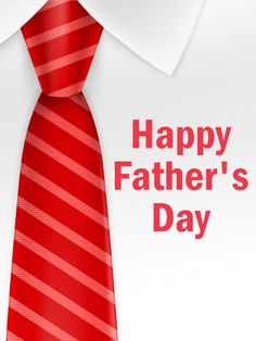 Send Free Red Tie - Happy Father's Day Card to Loved Ones on Birthday & Greeting Cards by Davia. It's free, and you also can use your own customized birthday calendar and birthday reminders.