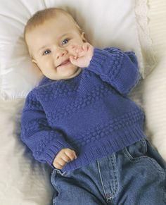Strikke sweater til baby