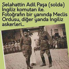 """Instagram'da Kenan Gümüş ...✒: """"❌Selahattin Adil Paşa (solda) İngiliz komutan ile. ❌Fotoğrafın bir yanında Meclis Ordusu, diğer yanda İngiliz askerleri... ❌21 Ekim 1922.…"""""""