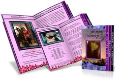 Page Grad Fold Obituary Template Cat  Brochure For More