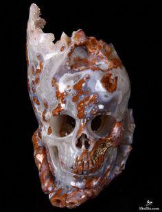 Skullis.com A Crystal Skull a Day: June 27, 2014 - Self Appreciation - Agate Geode Carved Crystal Skull and Hand Bones Sculpture