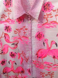 Pink flamingo print x Pink Love, Pretty In Pink, Hot Pink, Bright Pink, Trend Fashion, Fashion Mode, Unique Fashion, Runway Fashion, High Fashion