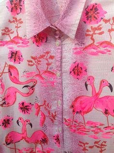 painted flamingoes