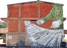 Artista sérvio faz gifs animados a partir de grafites famosos, fotos e ilustrações. #gif #art #streetart #graffiti #animação #gifs #animatedgif #blu