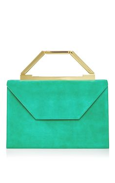 M'o Exclusive: Emerald Suede Emma Bag by OWEN for Preorder on Moda Operandi