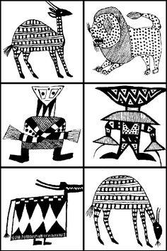 senoufoprint3                                                                                                                                                                                 Plus Art Du Monde, Afrique Art, Cultural Crafts, Arte Do Kawaii, African Art Paintings, Aboriginal Art, Native Art, Art Plastique, Tribal Art