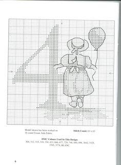 Schema punto croce Numeri Bimbi 7
