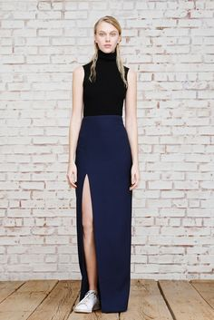 slit skirt silhouette