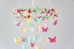 Butterfly Mobile -Pink & Blue Nursery Mobile