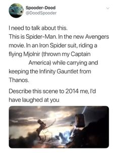 marvel movie Never thought I would ever see this, but it really did happen, and Im glad it did, because it completed me. Funny Marvel Memes, Dc Memes, Avengers Memes, Marvel Jokes, Marvel Fan, Marvel Dc Comics, Marvel Heroes, Marvel Gems, New Avengers Movie