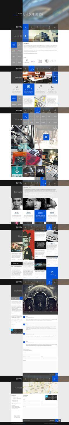 BLURI Single Page Template by entiri , via Behance