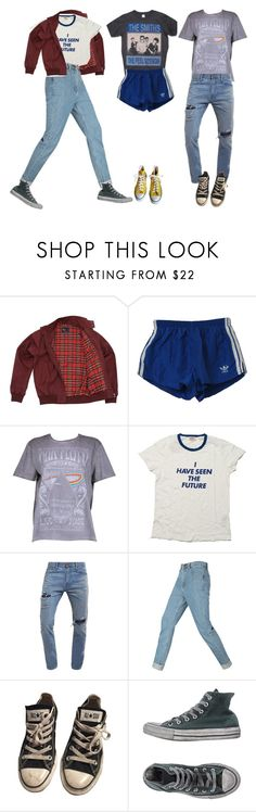 """""""Untitled #452"""" by owlenstar on Polyvore featuring Fred Perry, adidas, Boohoo, Levi's, Hollister Co. and Converse"""