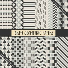 Grey geometric paper pack @creativework247